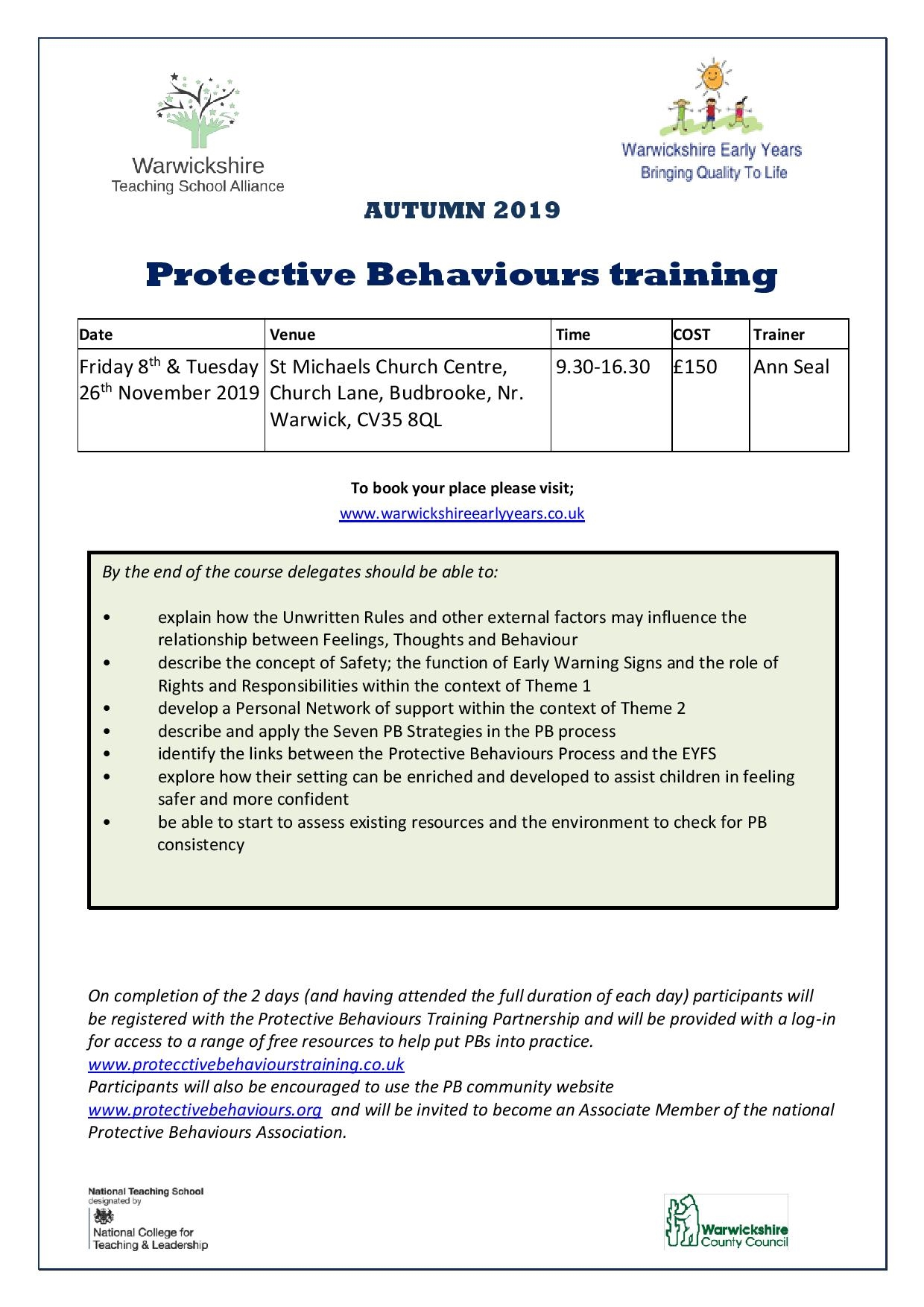 Protective Behaviours training
